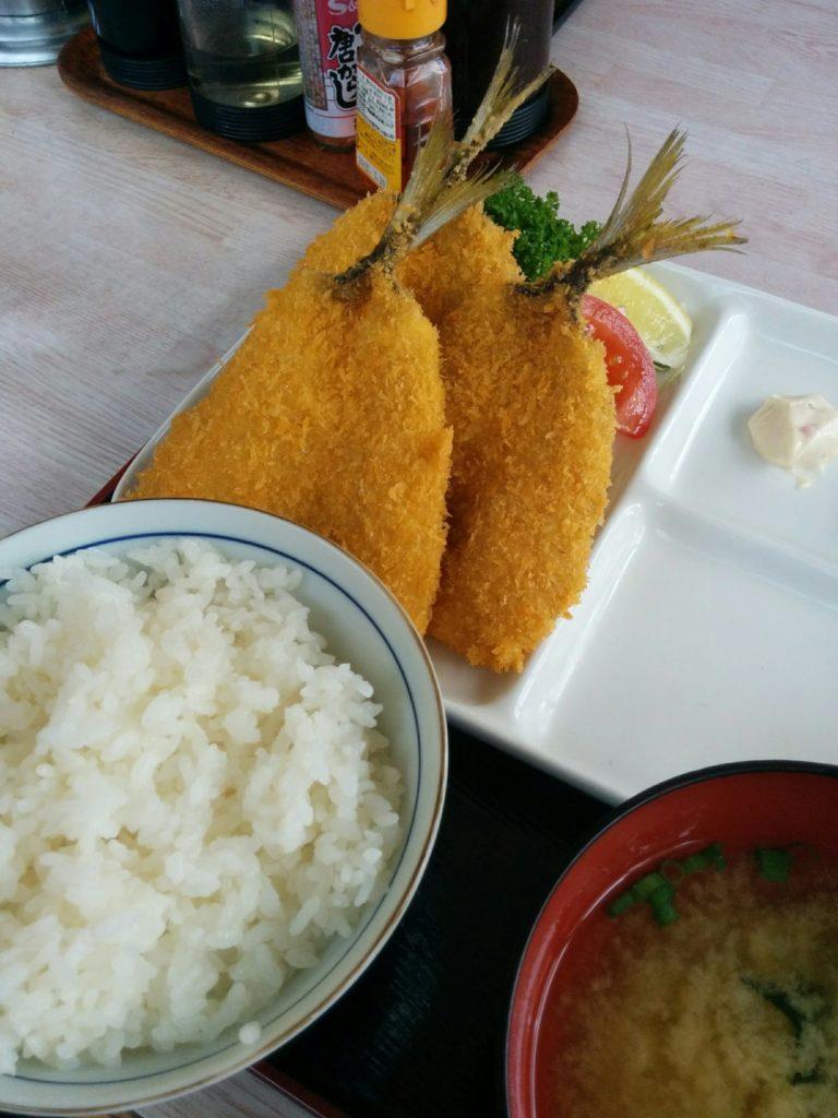 アジフライ定食