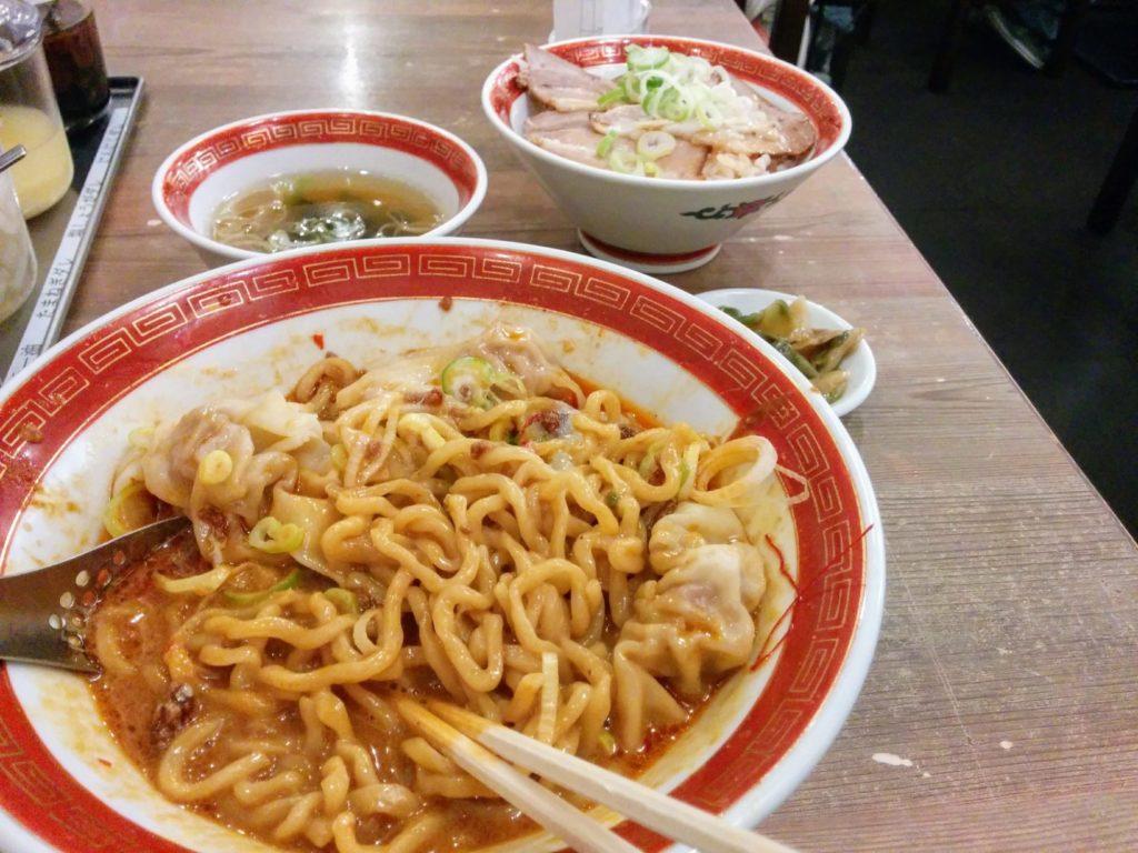 汁なし担々麺セット